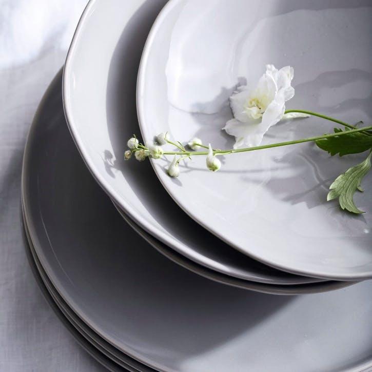 Portobello Dinnerware Set, Grey, 12 Pieces