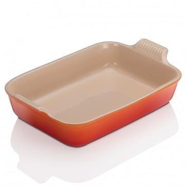 Stoneware Rectangular Dish - 26cm; Volcanic