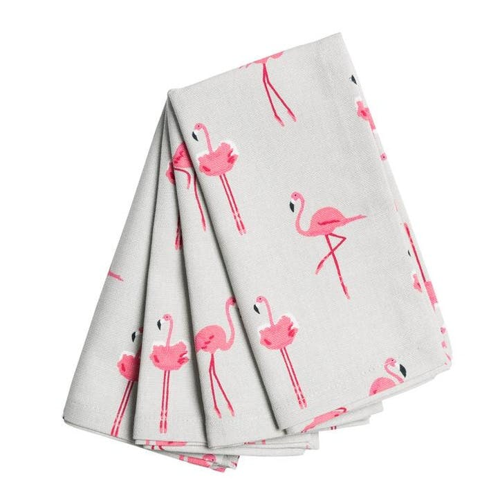 'Flamingos' Napkins, Set of 4