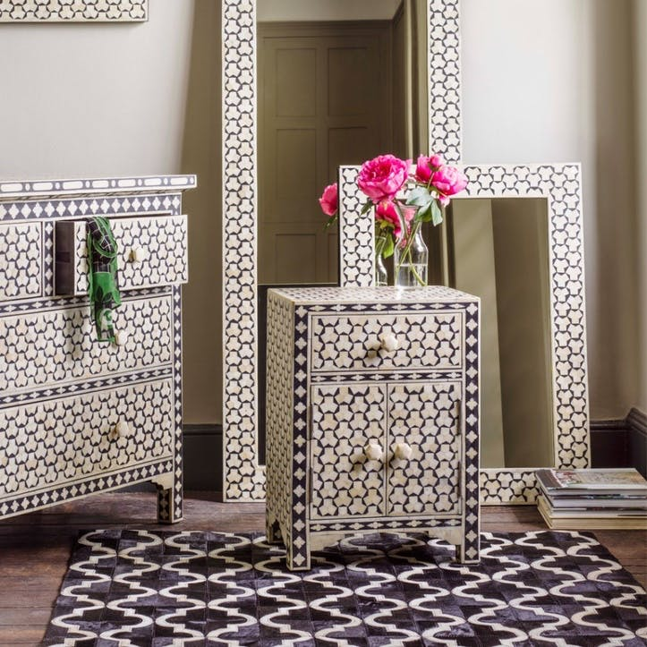 Beaumont Bone Inlay Bedside Table