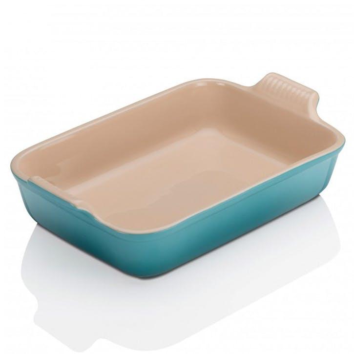 Stoneware Rectangular Dish - 26cm; Teal