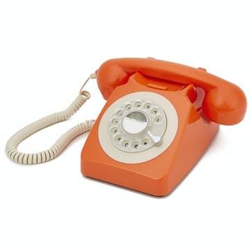 746 Rotary Telephone; Orange