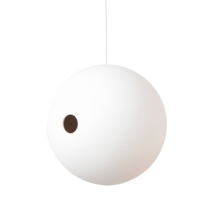 Birdball Suspended Birdhouse; White