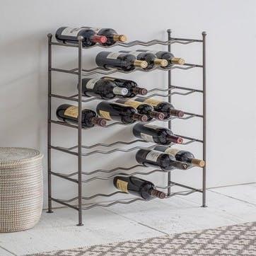 Farringdon Wine Rack, Steel