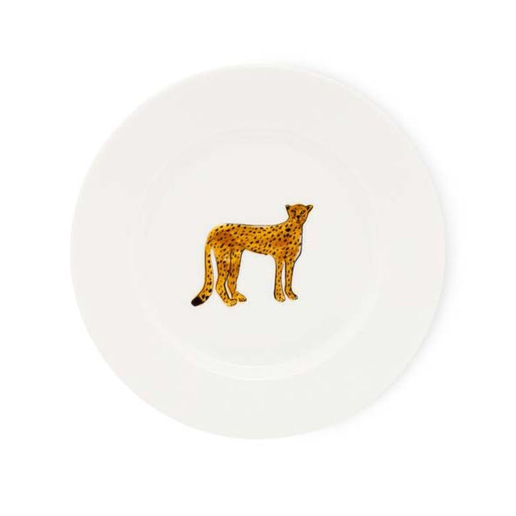 Cheetah Cake Plate
