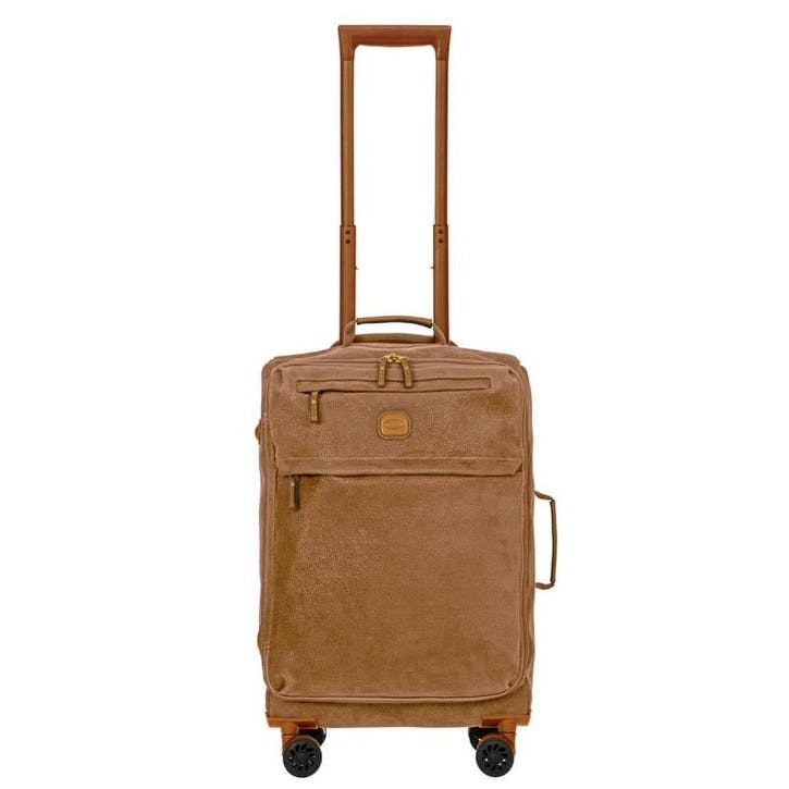 Life Lightweight Spinner Suitcase, 55cm; Brown