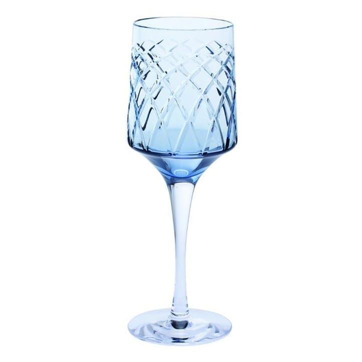 Harris Wine Glass, Ink Blue