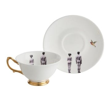 Modern Surrealist The Models Tea Cup & Saucer