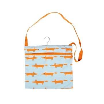 Mr Fox Wipe Clean Peg Bag, Blue