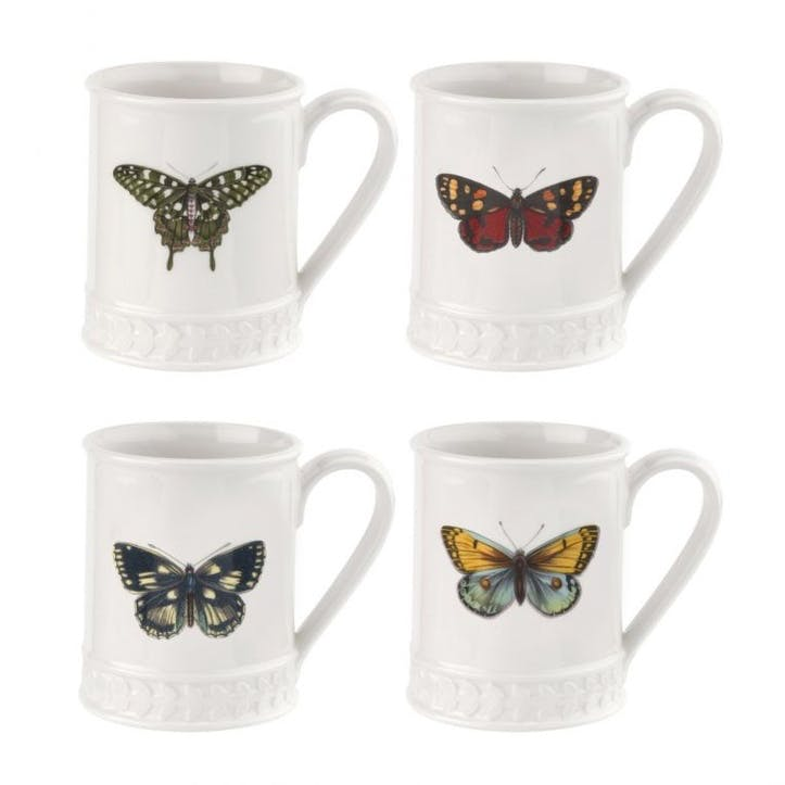 Botanic Garden Harmony Tankard, White with Butterfly