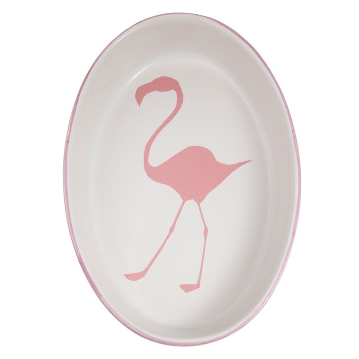Flamingo Oval Oven Dish