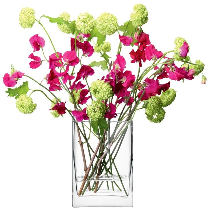 LSA Flower Rectangular Bunch Vase 22cm