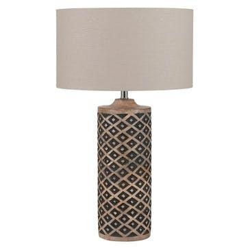 Orissa Tall Wooden Diamond Table Lamp