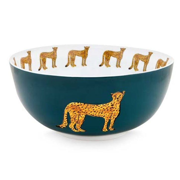 Cheetah Serving Bowl