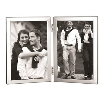 """Double-Hinged Sterling Silver Photo Frame, 6 x 4"""""""