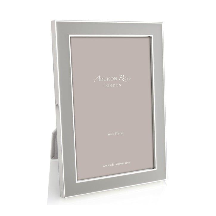 """Silver Plate Enamel - 5"""" x 7""""; Chiffon"""