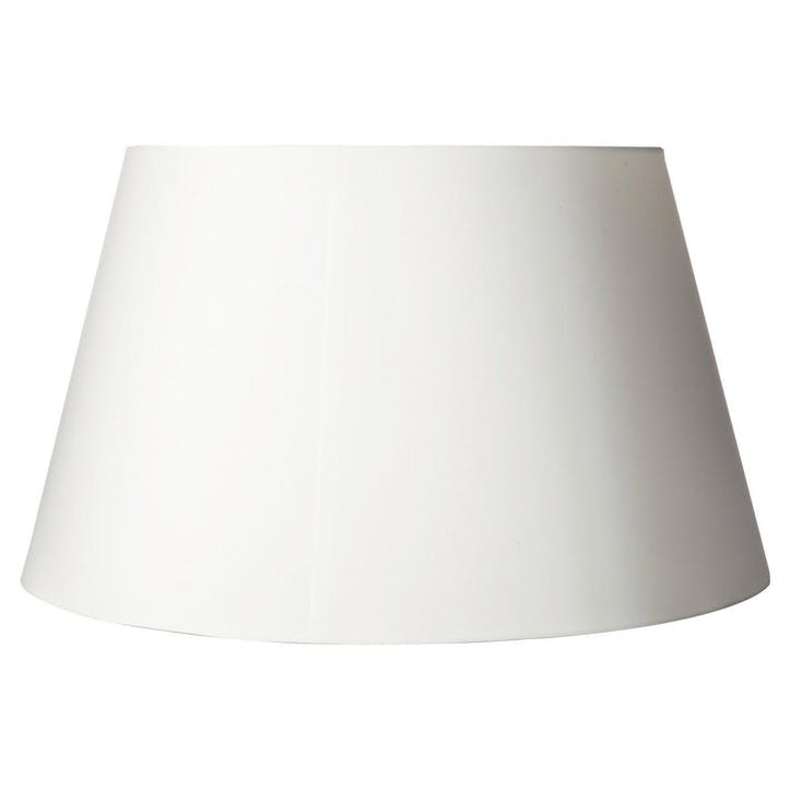 40cm Drum Cotton Lamp Shade, White