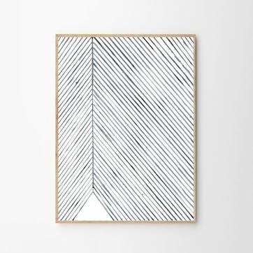 Leaf Me - Silke Bonde Art Print D50cm x H70cm