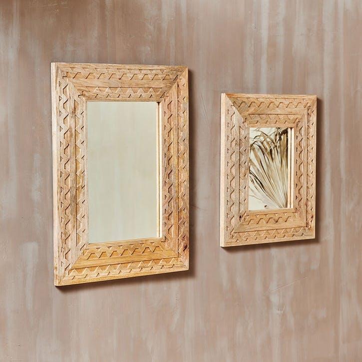 Dudi, Mango Wood Mirror, Large