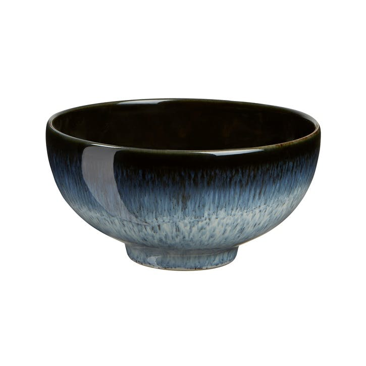 Halo Rice Bowl, 12.5cm, Black/ Blue