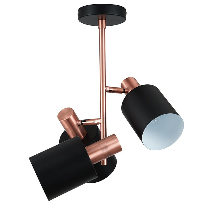 Addison 3 Light Electrified Pendant; Black & Antique Copper