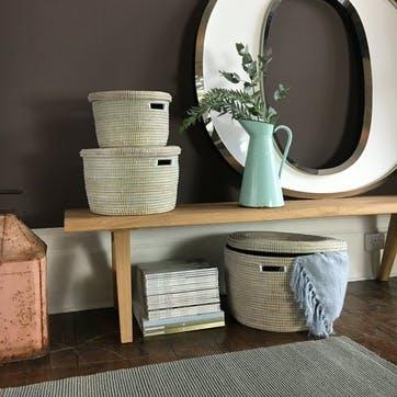Round Storage Basket, Medium, Natural