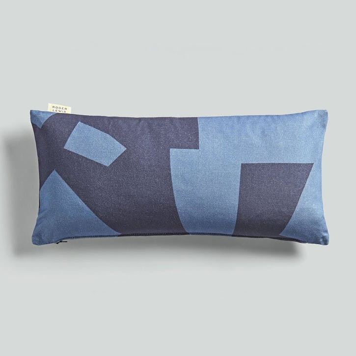 Lumbar, Roger Lewis Collaboration, Cushion, H27 x W55cm, Navy