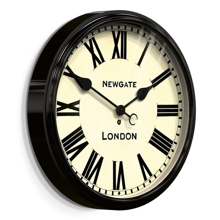 The Battersby Wall Clock, Dia. 50cm, Black