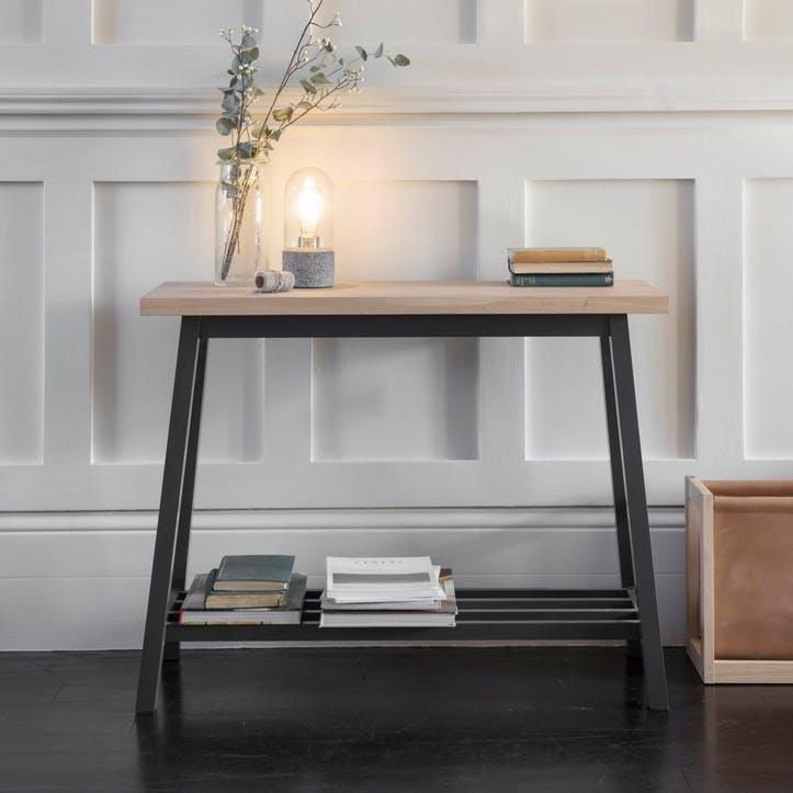 Clockhouse Console Table, Carbon