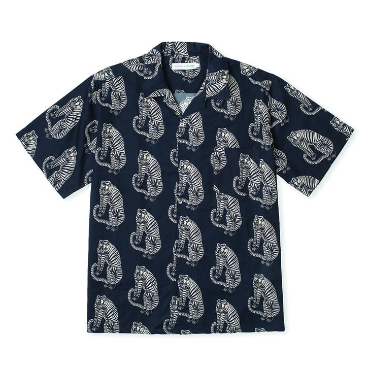 Tiger Cuban Pyjama Shirt, Extra Large