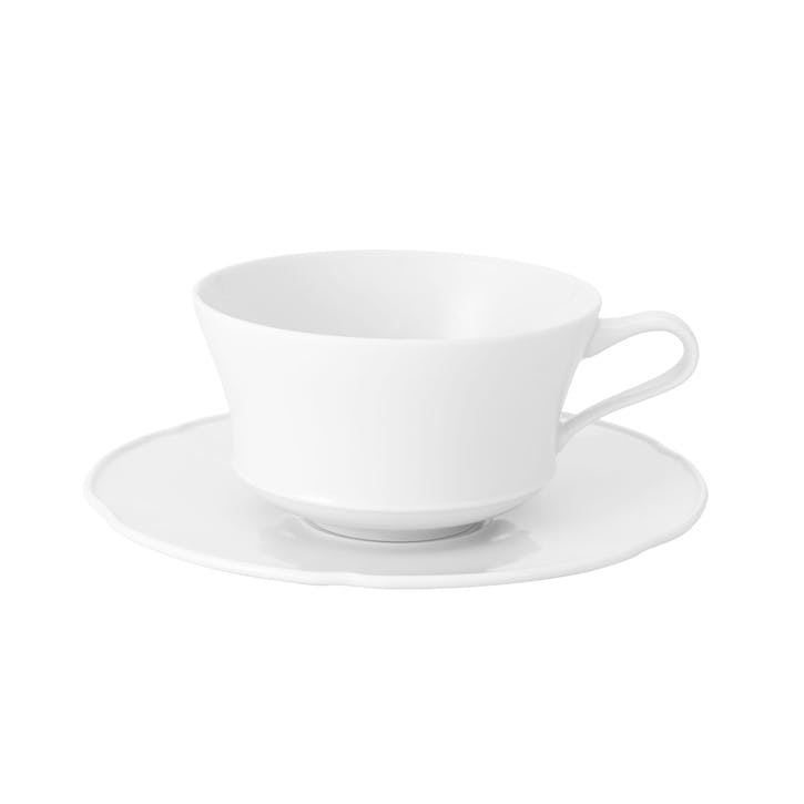 Crown White Breakfast Cup & Saucer