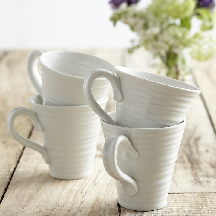 Solo Mugs, Set of 4; White