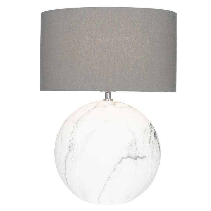 Crestola Marble Effect Ceramic Table Lamp - Large