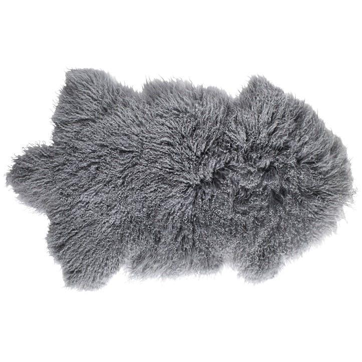 Tibetan Sheepskin Rug, Cool Grey