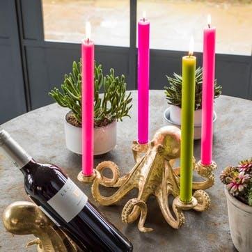 Octopus Candlestick, Gold