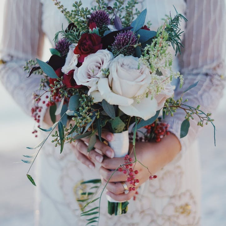 I promise to organise the wedding flowers