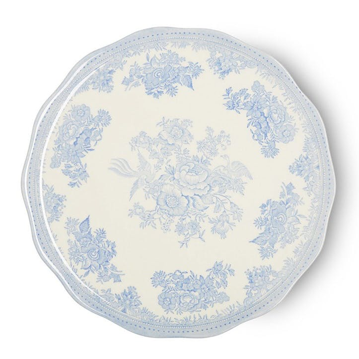 Asiatic Pheasants Cake Plate, 28cm, Blue