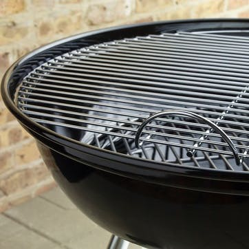 Compact Kettle Charcoal Barbecue, Black