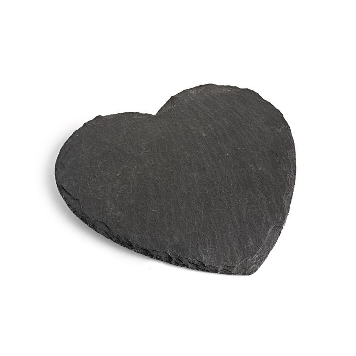 Natural Slate Heart Serving Board