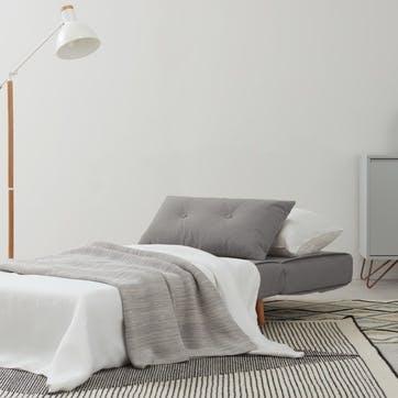 Haru sofa bed, single, H180 x W80 x D56cm, Grey