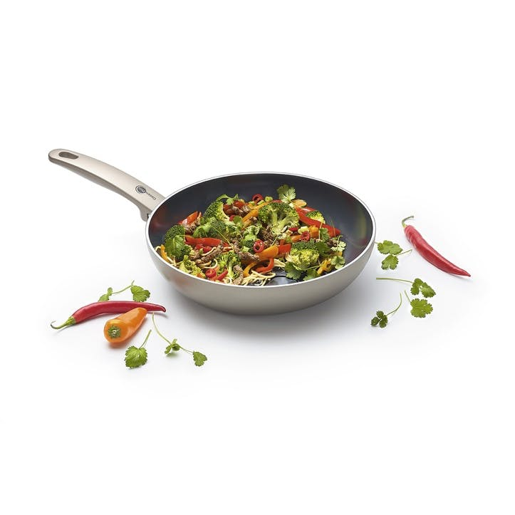 Cambridge Bronze Ceramic Non-Stick Open Wok - 28cm