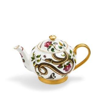 Teapot, Floral/Snake