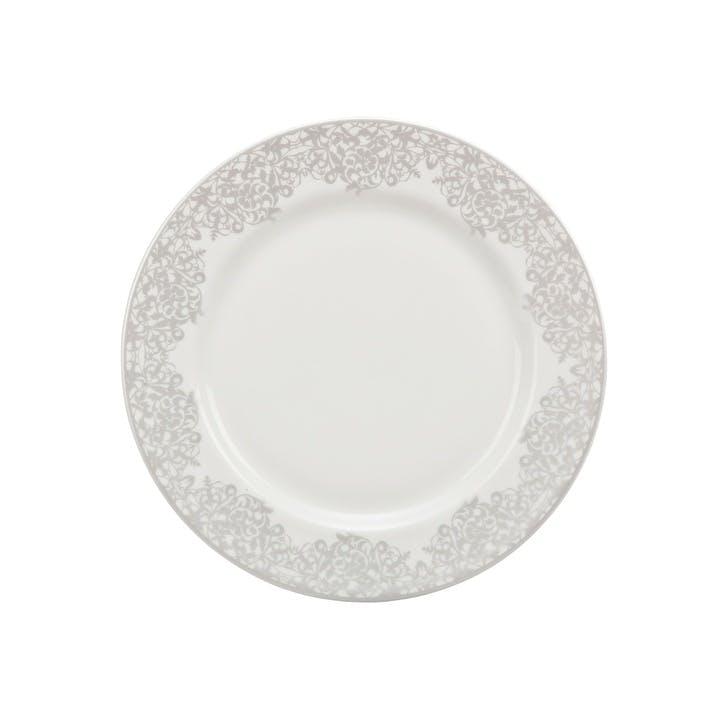 Filigree Silver Medium Plate, 22cm