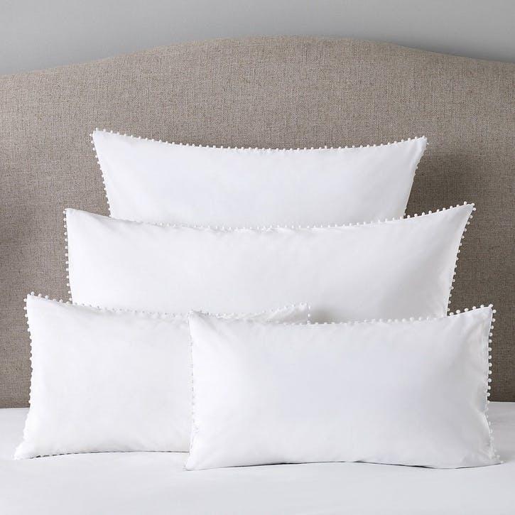 Avignon Housewife Pillowcase, Square, White