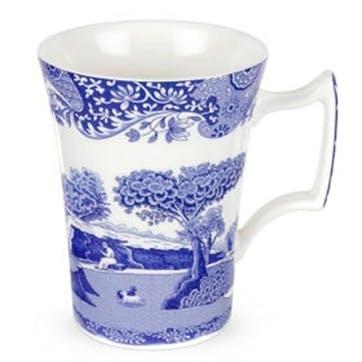 Blue Italian Cottage Mugs, Set of 4