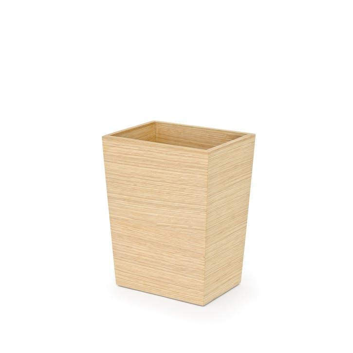 Mezza Rectangular Bin, Small, Oak