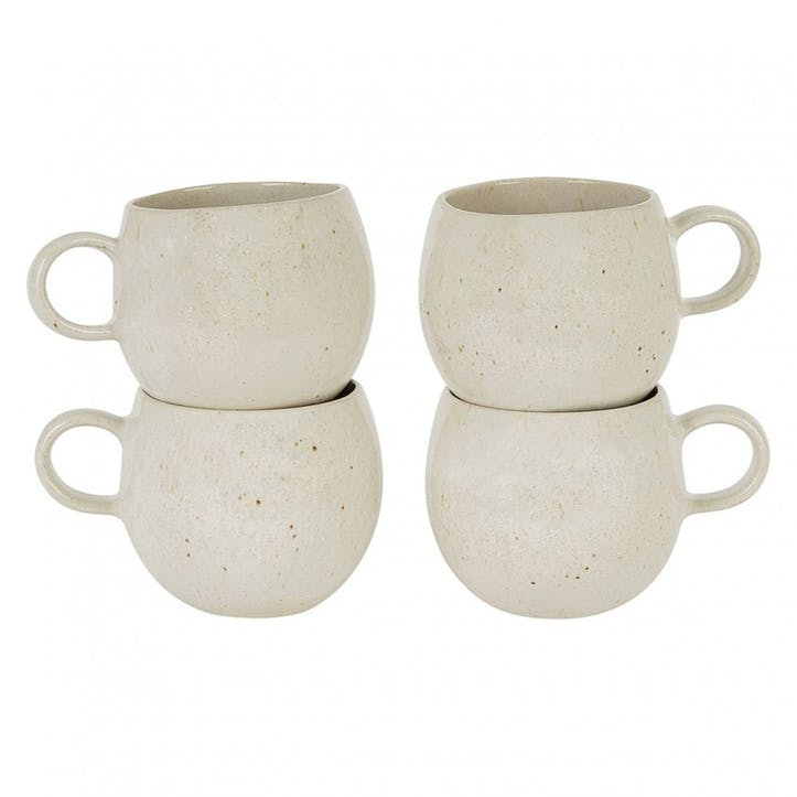 Olmo Mugs, Set of 5, Beige
