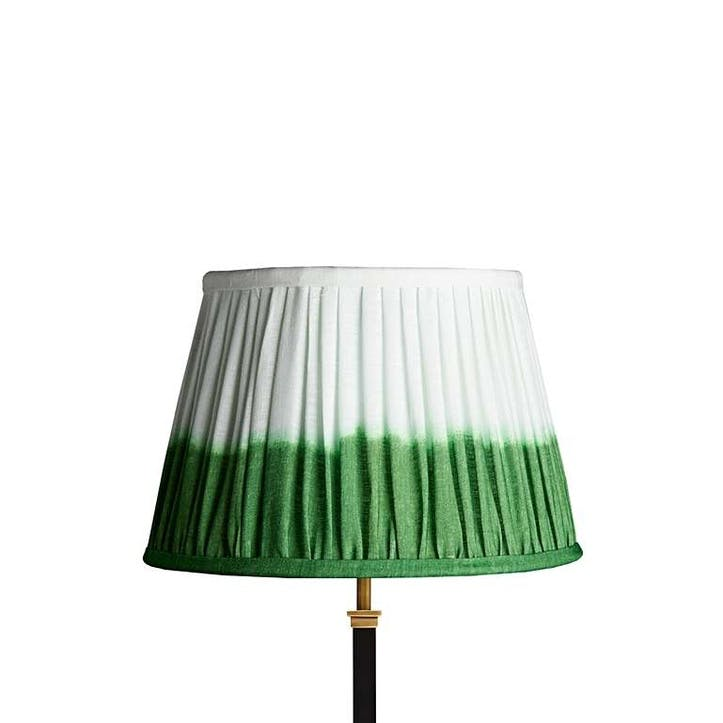 Straight Empire Shade, 35cm, Green Shibori Linen