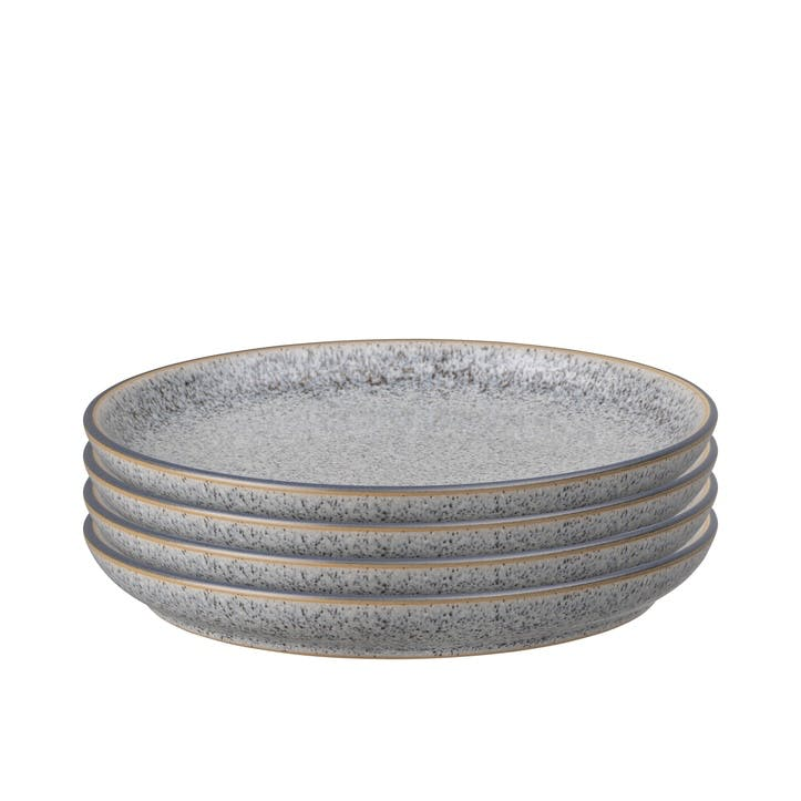 Studio Grey Coupe Medium Plate, Set of 4