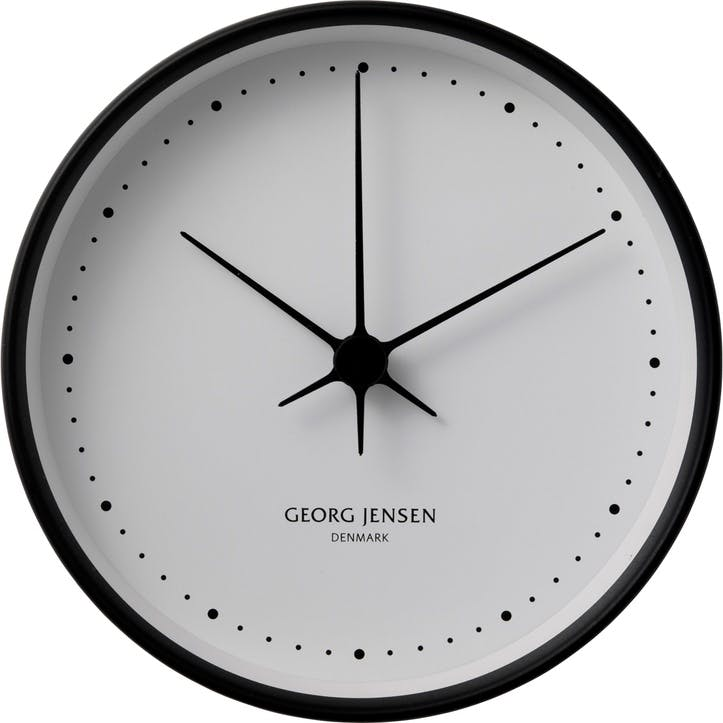 Koppel Wall Clock, Black, 22cm
